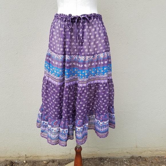 Byer Dresses & Skirts - Vintage Byer boho tiered skirt